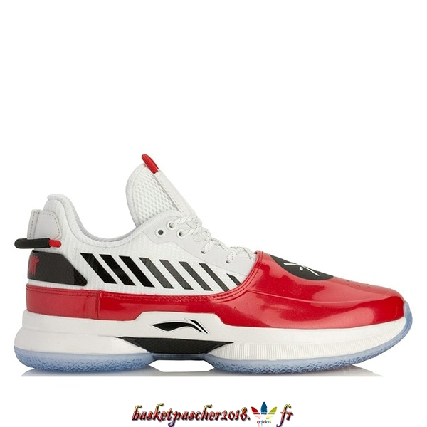 "Vente Chaude Chaussures De Basketball Homme Li Ning Way Of Wade 7 ""Overtown"" Rouge Blanc (ABAN079-2) Pas Cher"