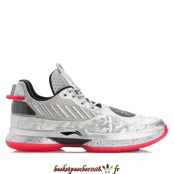 "Vente Chaude Chaussures De Basketball Homme Li Ning Way Of Wade 7 ""Veterans Day"" Argent Gris (ABAN079-3) Pas Cher"