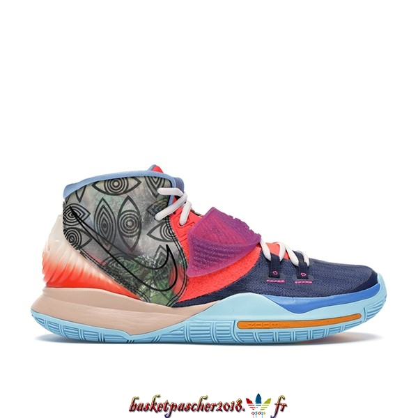 "Vente Chaude Chaussures De Basketball Homme Nike Kyrie Irving VI 6 Preheat ""Heal The World"" Marine (CN9839-403) Pas Cher"