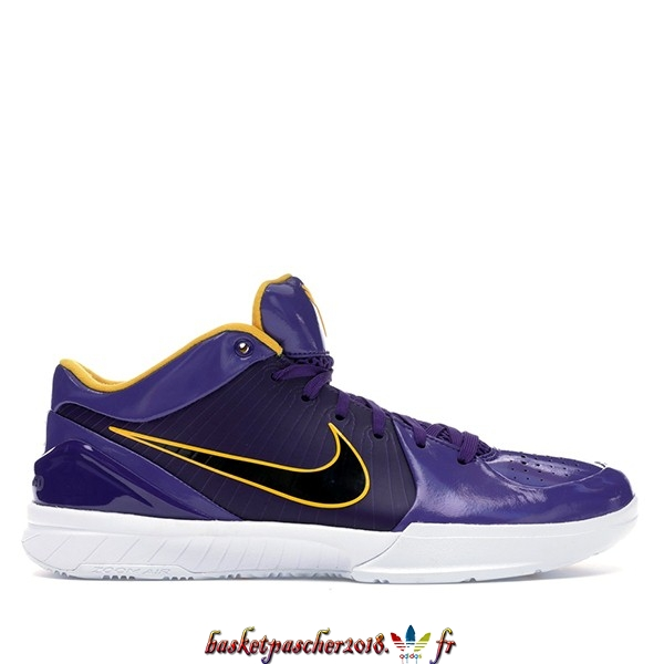 "Vente Chaude Chaussures De Basketball Homme Nike Zoom Kobe IV 4 Protro Undefeated ""Los Angeles Lakers"" Pourpre (CQ3869-500) Pas Cher"