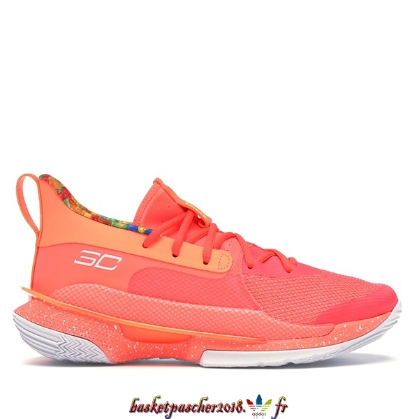 "Vente Chaude Chaussures De Basketball Homme Under Armour Curry 7 ""Sour Patch Kids"" Orange (3021258-603) Pas Cher"