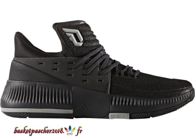 "Adidas D Lillard 3 ""Lights Out"" Noir (BY3206) Pas Cher"