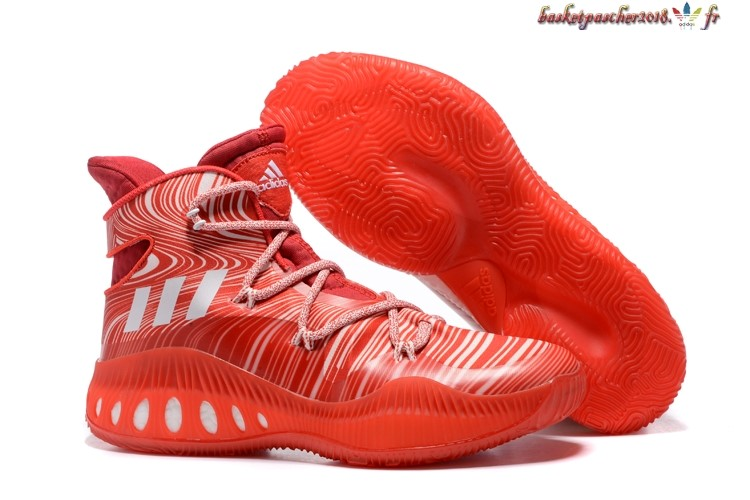 Vente Chaude Chaussures De Basketball Homme Adidas Crazy Explosive John Wall 2016 Rouge Blanc Pas Cher