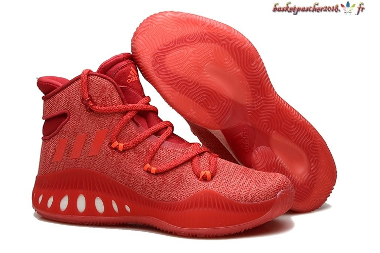 Vente Chaude Chaussures De Basketball Homme Adidas Crazy Explosive John Wall 2016 Rouge Pas Cher