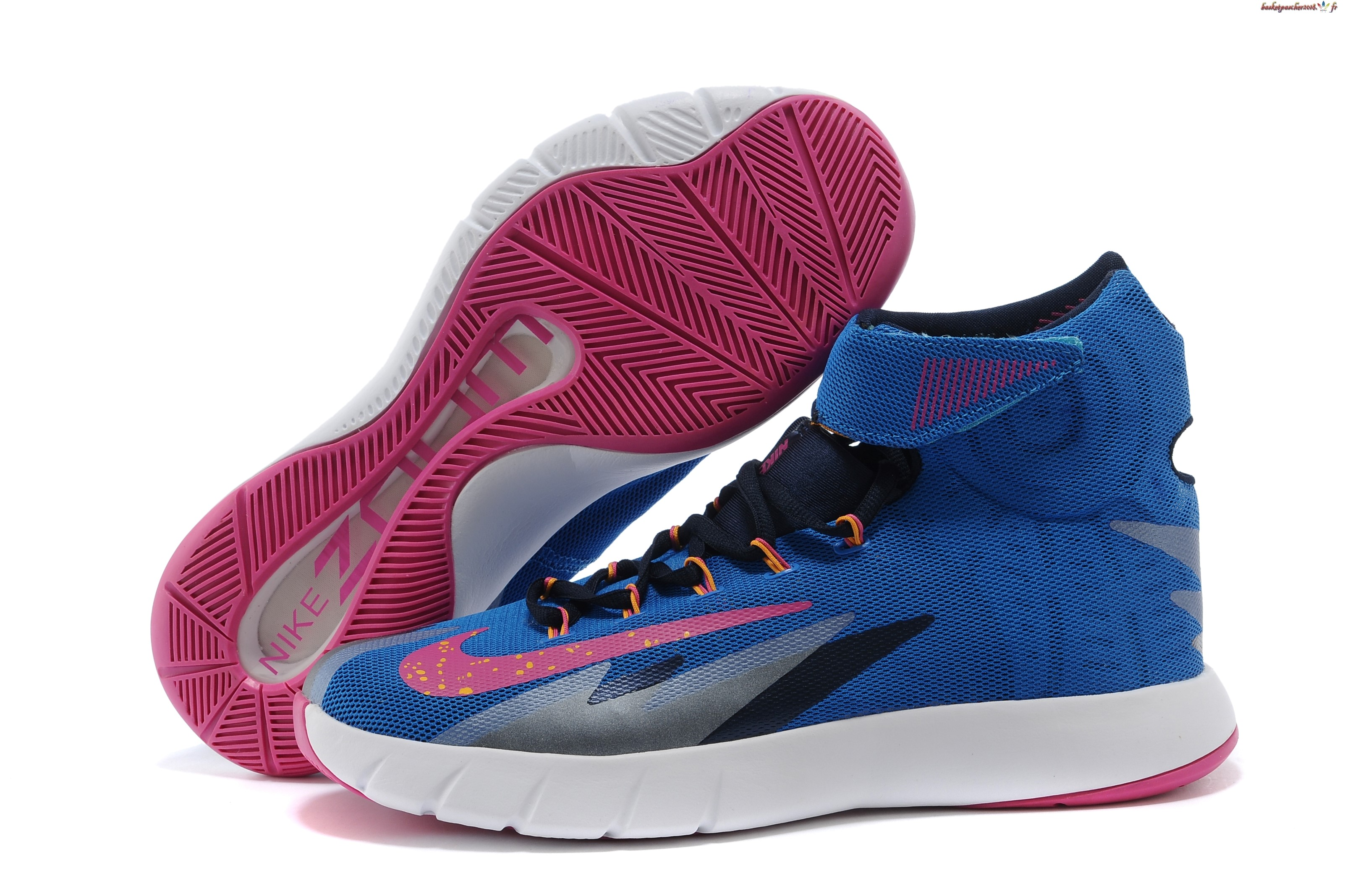 Vente Chaude Chaussures De Basketball Homme Nike Zoom Hyperrev Kyrie Irving Bleu Blanc Rouge Pas Cher
