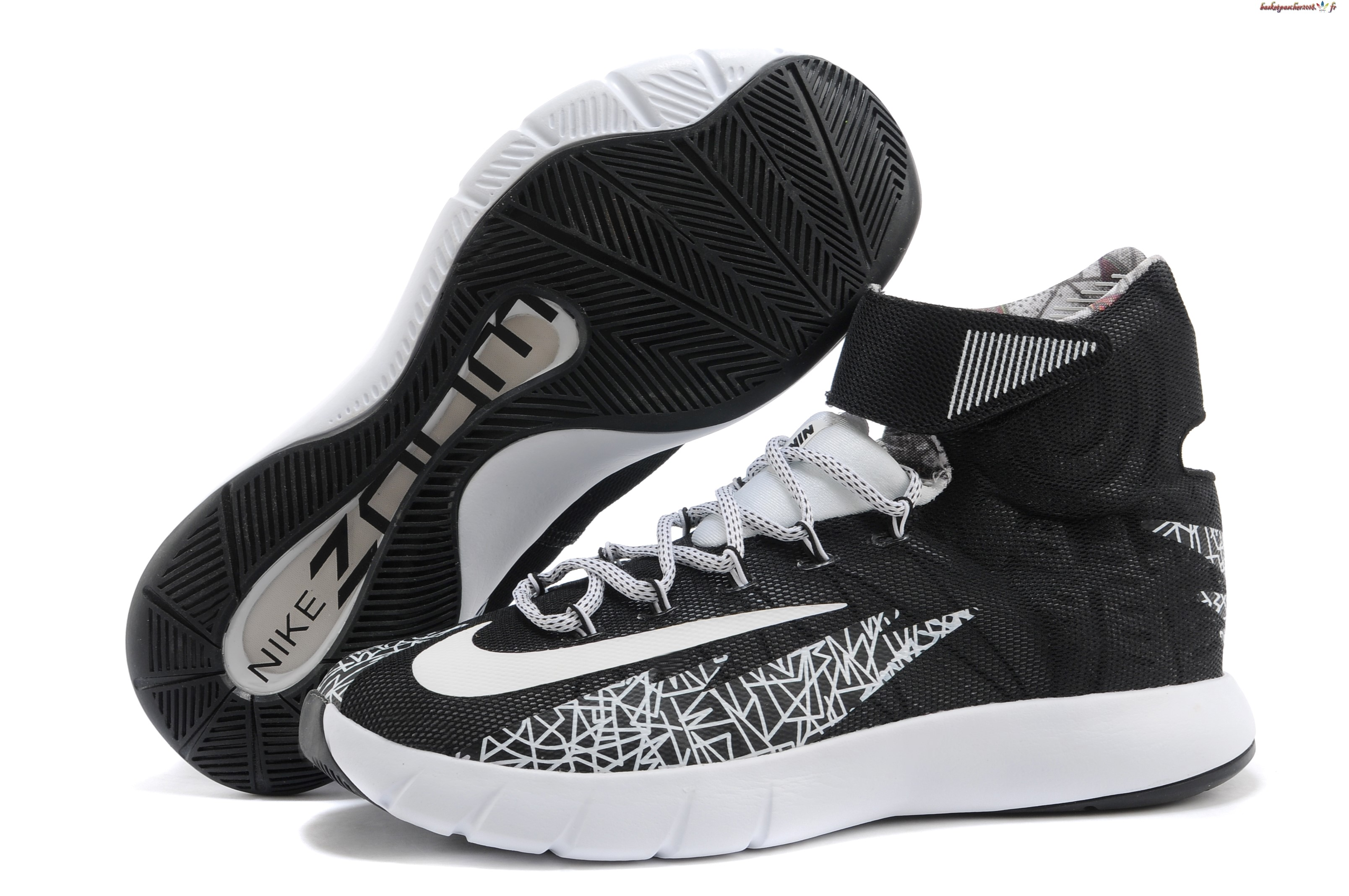 Vente Chaude Chaussures De Basketball Homme Nike Zoom Hyperrev Kyrie Irving Noir Blanc Pas Cher