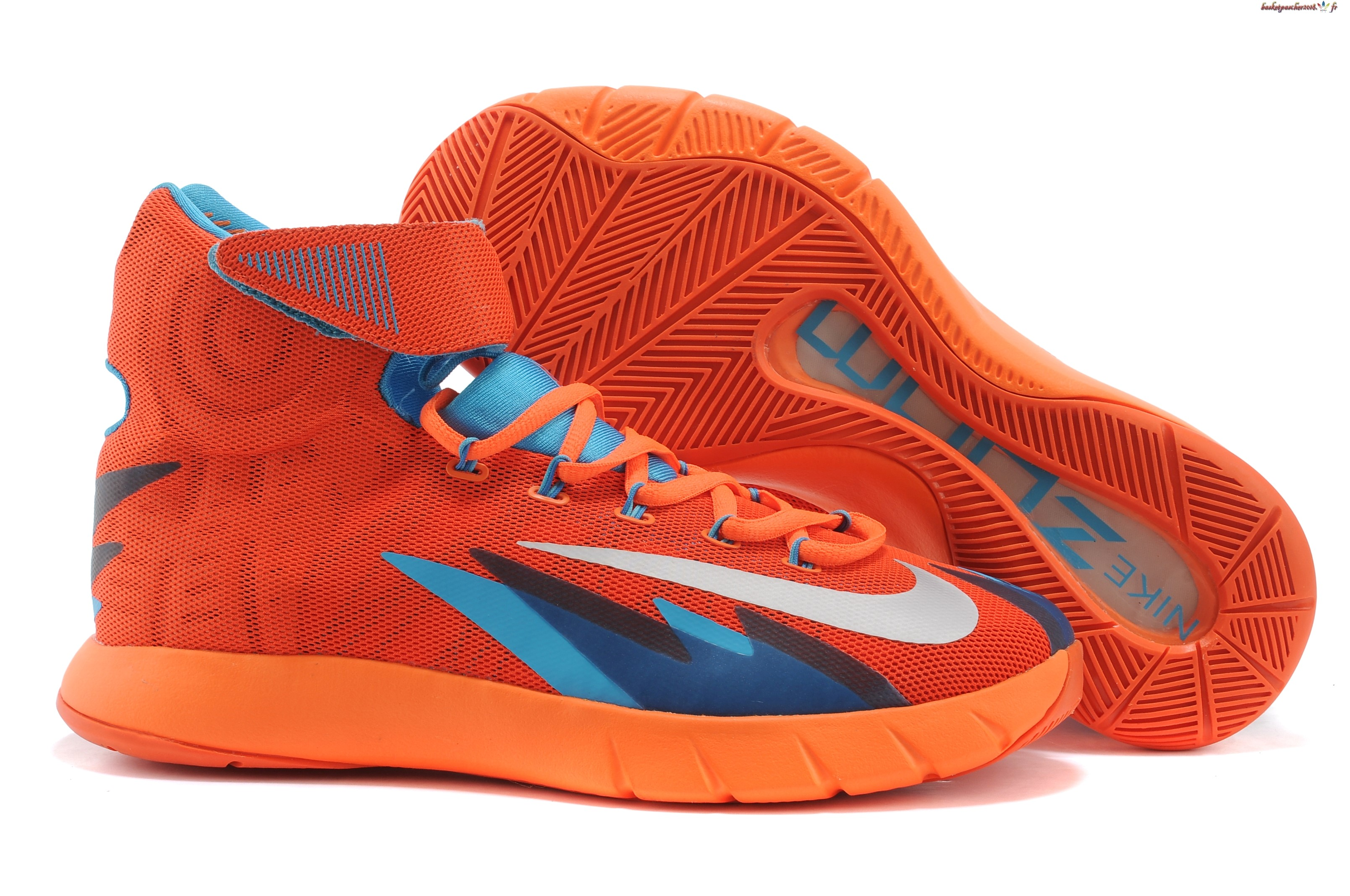 Vente Chaude Chaussures De Basketball Homme Nike Zoom Hyperrev Kyrie Irving Orange Gris Pas Cher