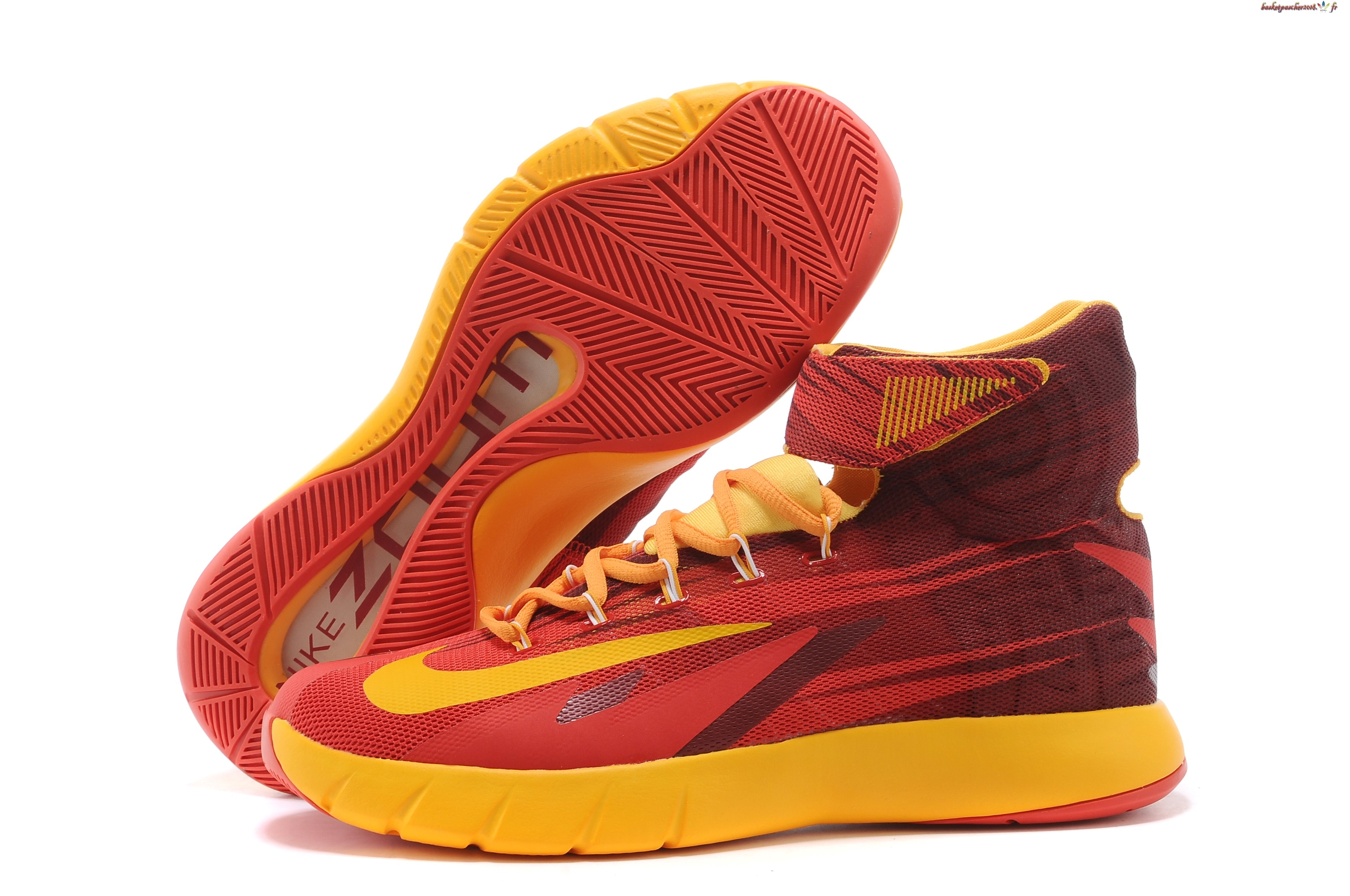 Vente Chaude Chaussures De Basketball Homme Nike Zoom Hyperrev Kyrie Irving Rouge Jaune Pas Cher