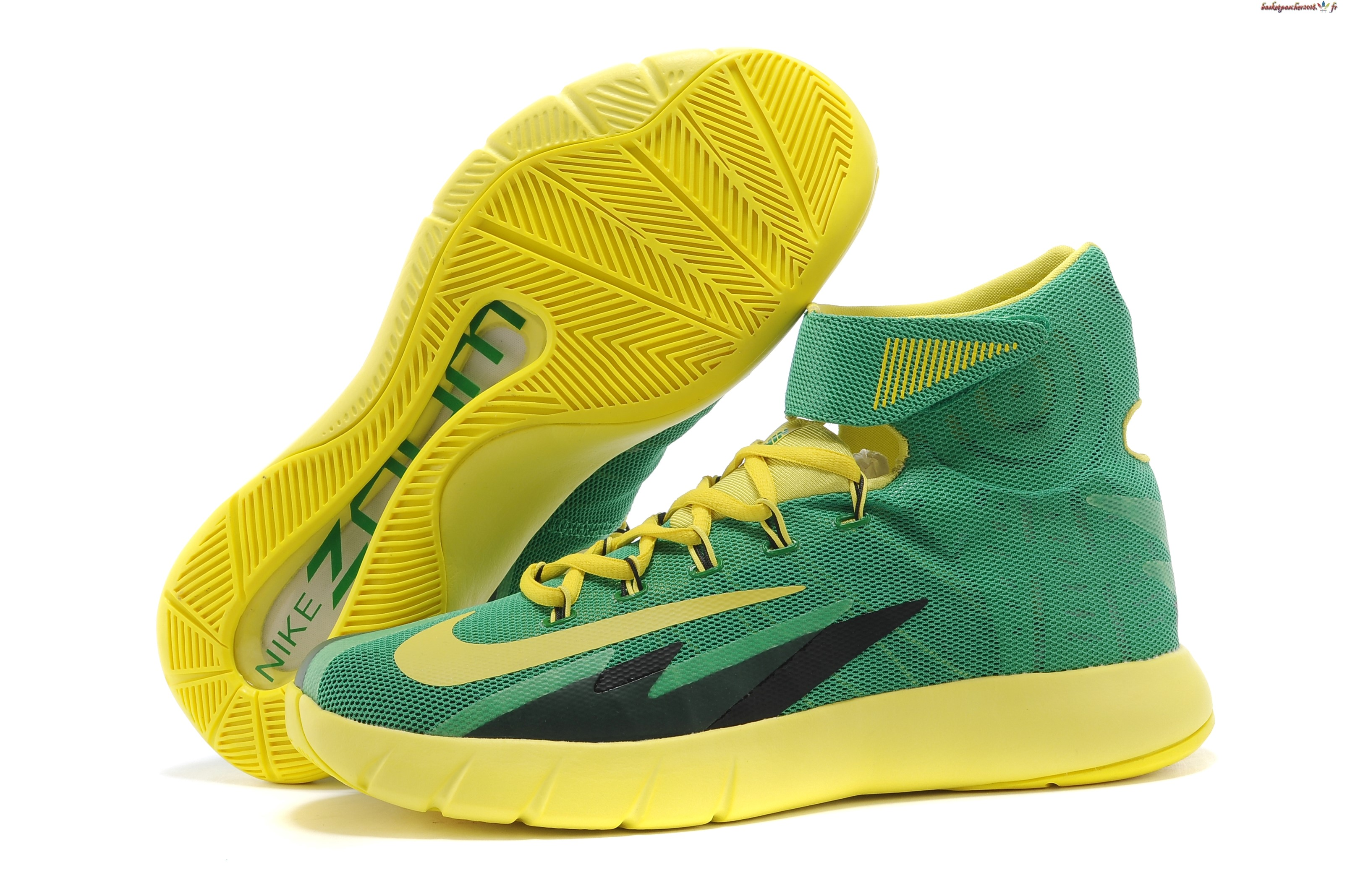 Vente Chaude Chaussures De Basketball Homme Nike Zoom Hyperrev Kyrie Irving Vert Jaune Pas Cher