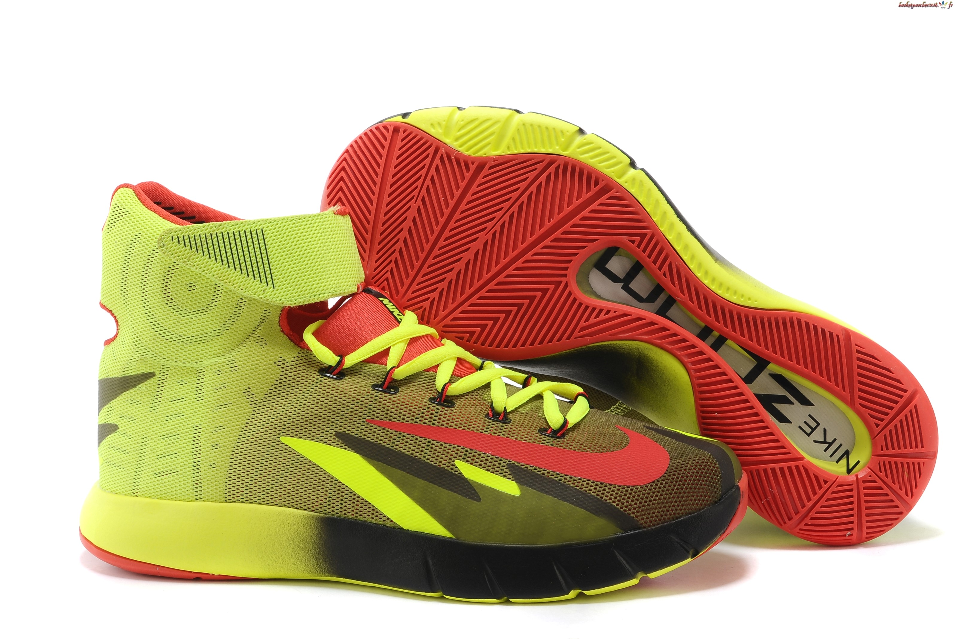 Vente Chaude Chaussures De Basketball Homme Nike Zoom Hyperrev Kyrie Irving Vert Noir Rouge Pas Cher